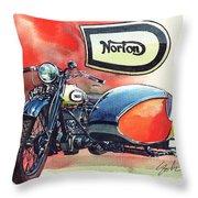 Norton Side Car Throw Pillow