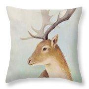 Norway Deer Throw Pillow