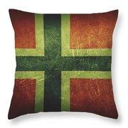 Norway Distressed Flag Dehner Throw Pillow