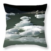 Norway, Iceberg Floating On Water Throw Pillow