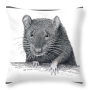 Norway Rat Throw Pillow