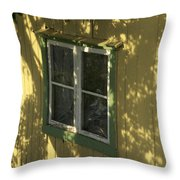 Norway, Sandvig, Shadow Of Tree On Wall Throw Pillow