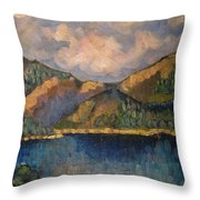 Norway View Throw Pillow