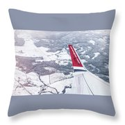 Norwegian Aerial Throw Pillow