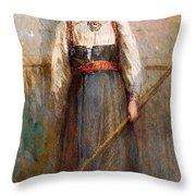 Norwegian Girl Throw Pillow