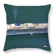 Norwegian Star In Geiranger Norway Throw Pillow