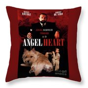Norwich Terrier Art Canvas Print - Angel Heart Movie Poster Throw Pillow