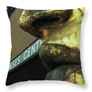 Nose And Lips Throw Pillow