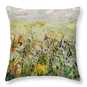 Nose Hill Throw Pillow