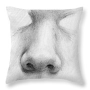 Nose Study - Front Throw Pillow