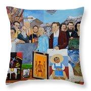 Nosotros Los Hombres Verdes De Mexico Throw Pillow