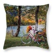 Nostalgia Autumn Throw Pillow