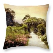 Nostalgia Of Roses Throw Pillow
