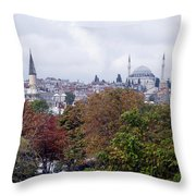 Nostalgia Of The Autumn In Istanbul Throw Pillow
