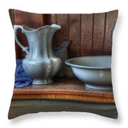 Nostalgia Wash Stand Throw Pillow by Bob Christopher