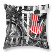 Nostalgic Collection-b And W Throw Pillow