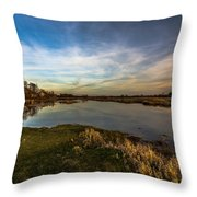 Nostalgic Landscape With Narew River  Throw Pillow by Julis Simo