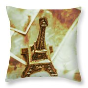 Nostalgic Mementos Of A Paris Trip Throw Pillow