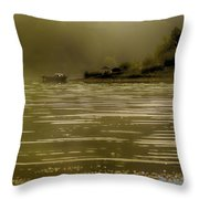 Nostalgic Morning Throw Pillow