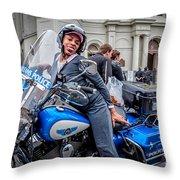 Not-a-cop In Jackson Square Nola Throw Pillow