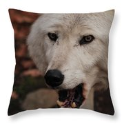 Not A Happy Face Throw Pillow