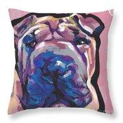 Not A Hippo- Just Hip Throw Pillow