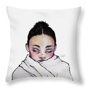 Not Angry, Just Cold Throw Pillow