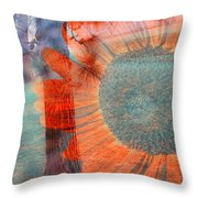 Not Another Sunflower Throw Pillow by Myrna Migala