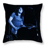 Not Awake Yet Blues Throw Pillow