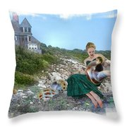 Not By Myself Throw Pillow