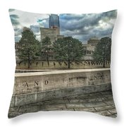 Not Defeated  Throw Pillow