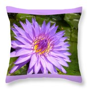 Purple Smiles Throw Pillow