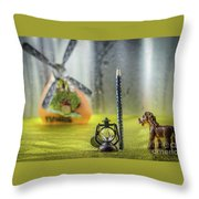 Not For Your Quirks Friend Stands Nearby Throw Pillow