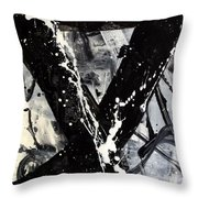 Not Just Black And White Throw Pillow