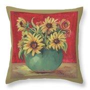 Not Just Sunflowers Throw Pillow