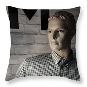 Not My M Throw Pillow