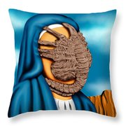 Not So Immaculate Conception Throw Pillow