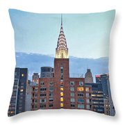 Not The Chrysler Building Nyc Throw Pillow