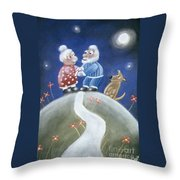 Not Yet Over The Hill Throw Pillow