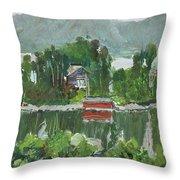 Nothagen Island Scenery Throw Pillow
