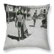 Nothing But Cheerful Looks Followed The Bat Throw Pillow