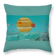 Nothing But Teal Skies Do I See Throw Pillow
