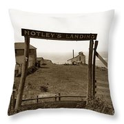Notleys Landing Big Sur Coast By L. S. Slevin  May 1919 Throw Pillow