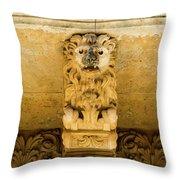 Noto, Italy - Detail Of Baroque Balcony, 1750 Throw Pillow