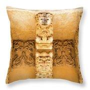 Noto, Sicily, Italy - Detail Of Baroque Balcony, 1750 Throw Pillow
