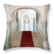 Noto, Sicily, Italy - Luxury Entrance Of Nicolaci Palace Throw Pillow