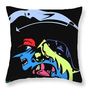 Notorious B.i.g. Full Color Throw Pillow
