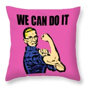 Notorious Rbg Ruth Bader Ginsburg We Can Do It Pop Art Throw Pillow