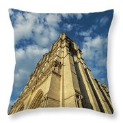 Notre Dame Angles In Color - Paris, France Throw Pillow