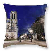 Notre Dame Cathedral Paris 2 Throw Pillow